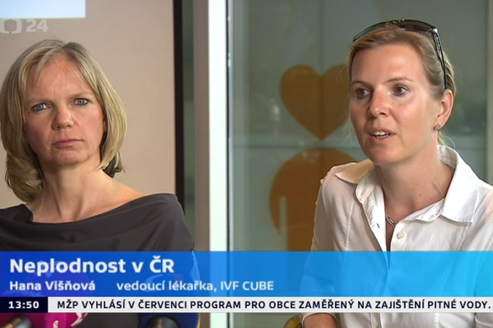 Hana Višňová a Renata Huttelová v České televizi