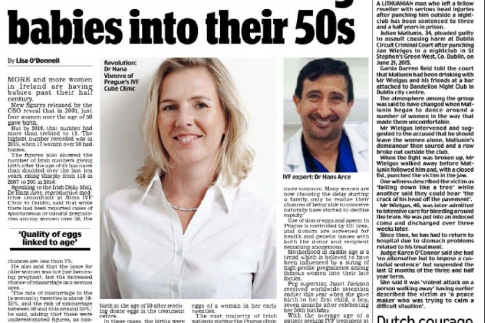 Il rinomato Irish Daily Mail menziona la nostra clinica