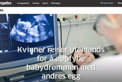 Kvinner reiser utenlands for å oppfylle babydrømmen med andres egg